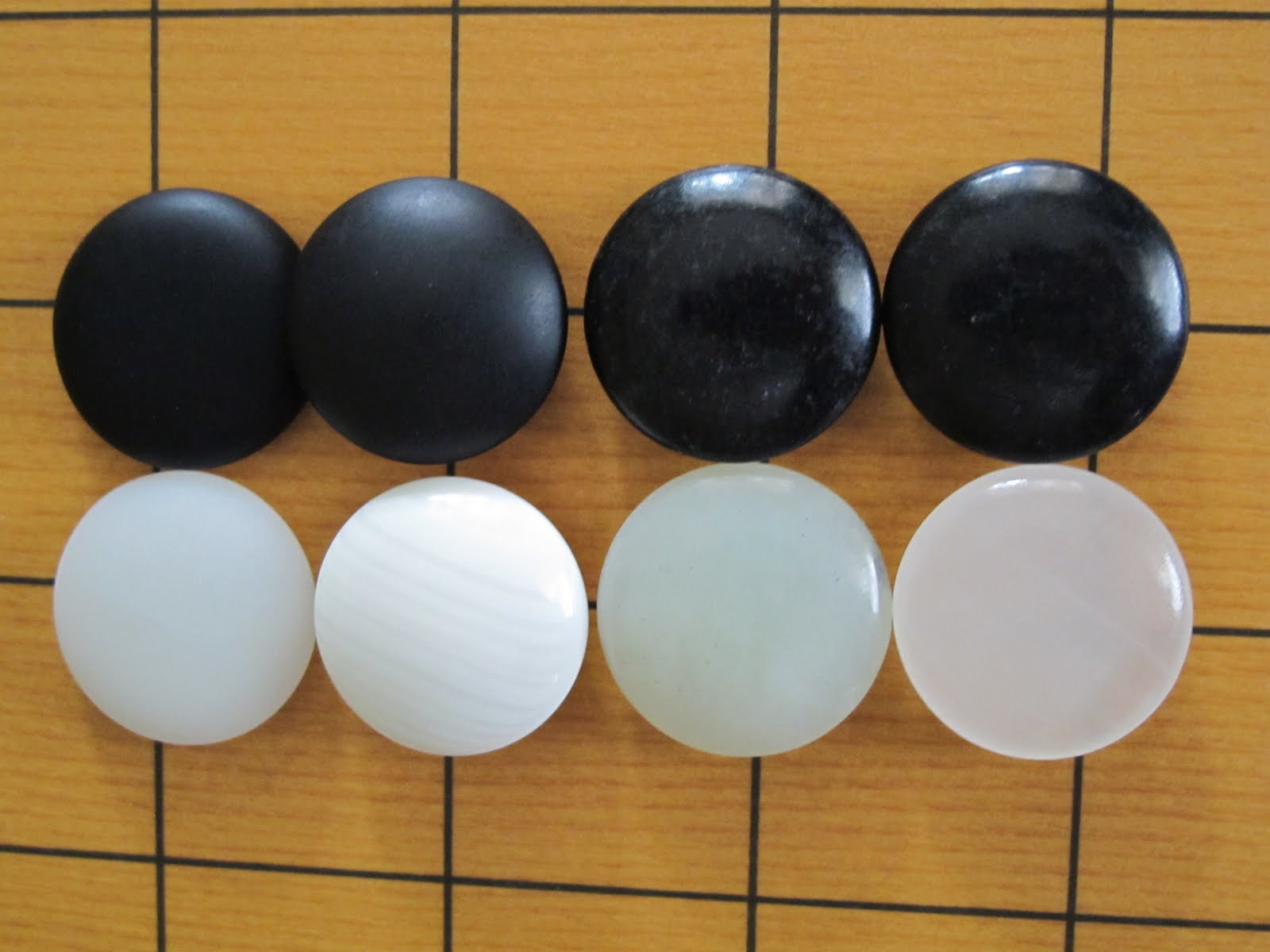 From left to right: Yunzi, Slate & Shell, Jade Set (Green), Jade Set (White)
